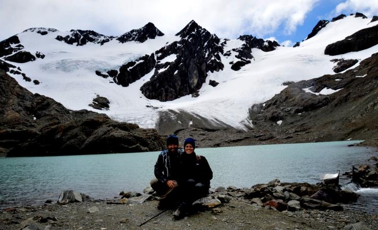 Renato Weil/A Casa Nômade- 2016.Ushuaia-AR.Terra do Fogo.Caminhada no glaciar Vinciguerra