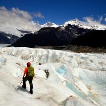 Renato Weil/A Casa Nômade- 2016.Puerto Tranquilol-CL.Carretera Austral.Caminhada no gelo sobre o Glaciar Exploradores no Parque Nacional Laguna San Rafael.