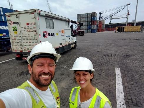 Foto Renato Weil/A Casa Nomade-2018i.Cartagena.Colombia.Porto Compas. Embarque do Motorhome para o Panama