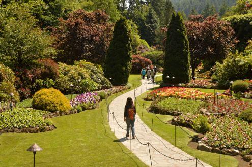Foto Renato Weil/A Casa Nomade.2019.Vancouver.British Columbia.Jardim Butchart Gardens
